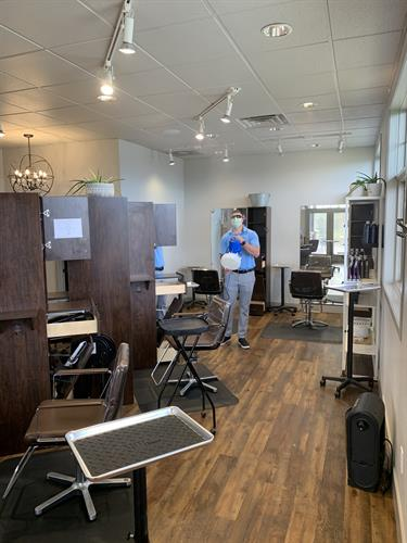 Helping a local area salon open safely and comfortably