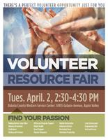 Volunteer Resource Fair to be held on April 2, 2019
