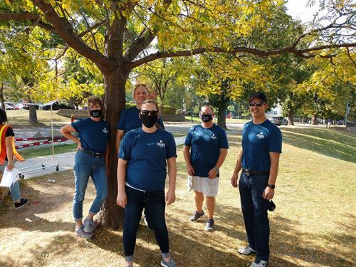 Drake team members volunteering