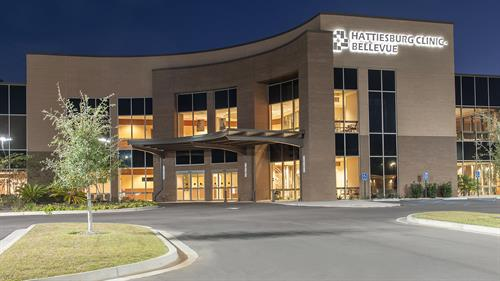 Nighttime Exterior of Bellevue Clinic