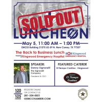 GEMCC Monthly Luncheon -  The Getting Back to Business Lunch presented by Kingwood Emergency Hospital