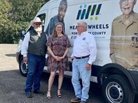Meals on Wheels Receives New Volunteer Parking Lot- Commissioner Riley teams up with Commissioner Walker