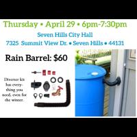 SEVEN HILLS RAIN BARREL PICK UP