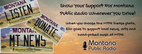 Montana Public Radio License Plate