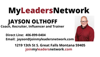 My Leaders Network - Jayson Olthoff