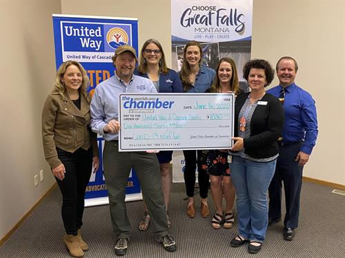 Give Great Falls COVID Relief Fund Grant to the United Way of Cascade County