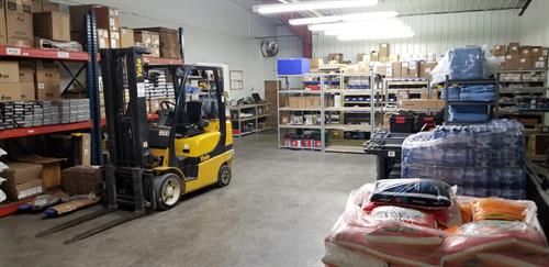 Backroom for customer inventory.