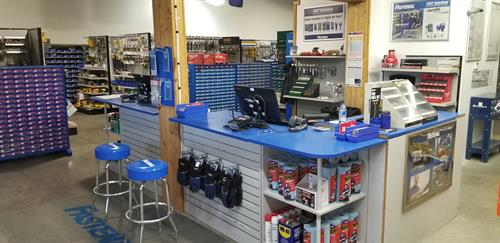 Front counter.