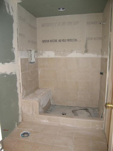 Murphy Guest Bath #2 Prepped 4 Tile