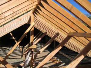 Dens' New Rafters, Purlins, Ridge-Beam & Bracing