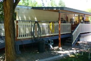 Deck, Awning & Railing On Mobile Modular Home