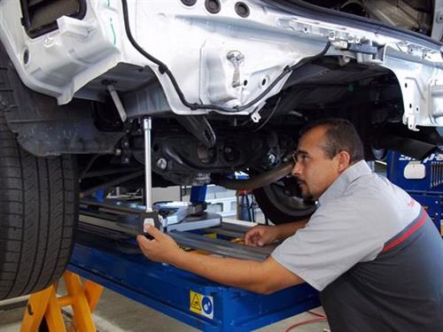 Vehicles repaired to Manufacture recommendations.