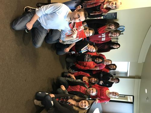 BRMS 'Goes Red' to Support American Heart Awareness Month
