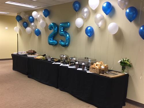 BRMS Celebrates 25 Years Employee Party