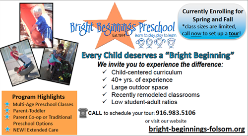 Bright Beginnings Preschool Ad