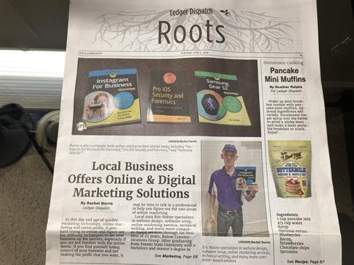 Owner Eric Butow was featured in an Amador Ledger-DIspatch article in June.