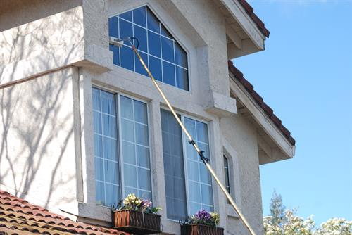No ladder window cleaning