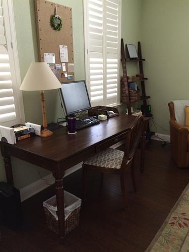 Organized home office After Room Solutions by Paula