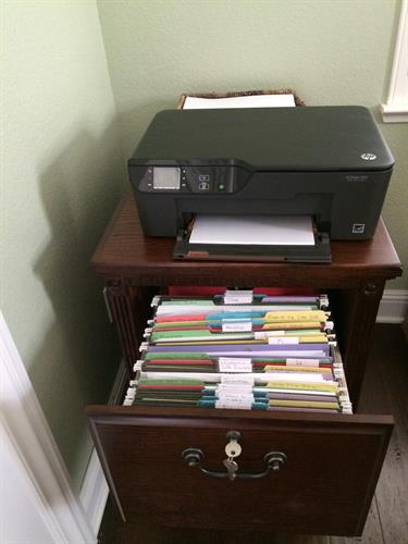 Created filing system After Room Solutions by Paula