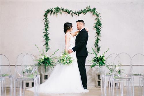 Modern Industrial Wedding Ceremony