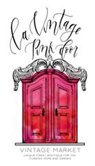 La Vintage Pink Door