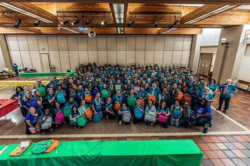 Our Northern California offices at our Ticket to Dream event this year. Together we packed almost 600 backpacks for foster children in our communities