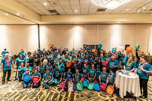 Our Southern California offices at our Ticket to Dream event this year. Together we packed almost 600 backpacks for foster children in our communities
