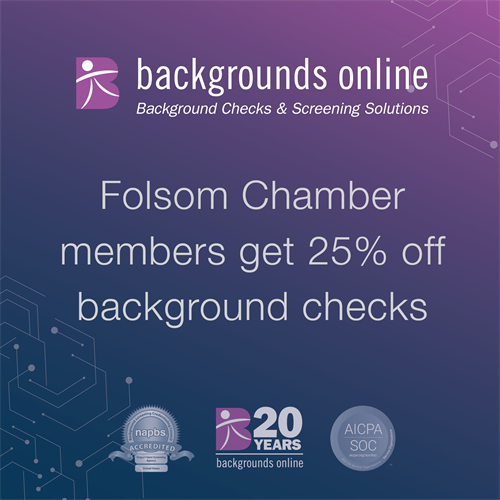 25% Discount for Folsom Chamber Members
