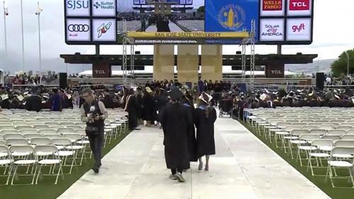 Graduation stadium floor covers