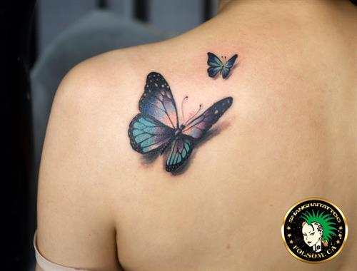 Butterfly color realism tattoo by Ms. Ting