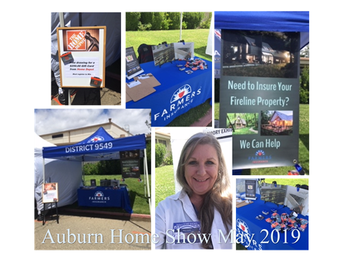Our booth at the Auburn Home Show 2019!