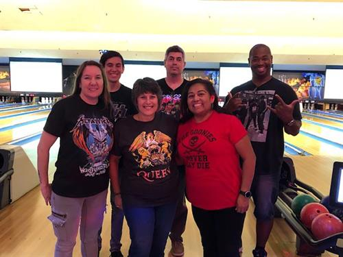 Centenal and team members from TaxAudit and TRI HoldCo. at the Junior Achievement Crazy Bowl!