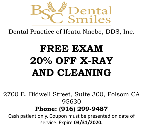 Cash Patient only, Free Exam, 20% OFF x-ray and cleaning