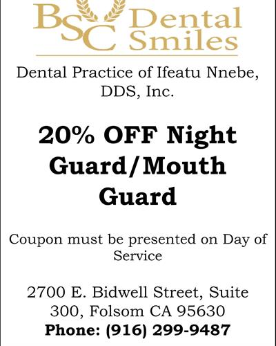20% off Night Guard/Mouth Guard