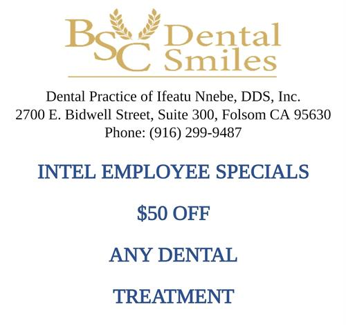 Intel Employee Specials $50 OFF any treatment