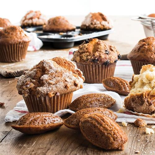 Muffins baked fresh daily