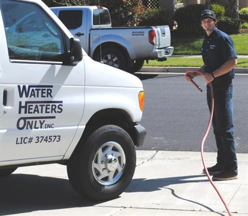 Getting ready to drain a water heater