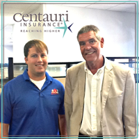 our agent Cory and John from Centauri Insurance