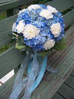 Blue Hydrangea bouquet!