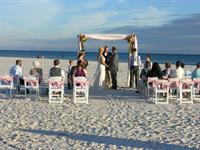 Sashes on the chairs add a touch of elegance!