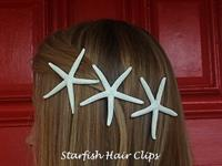 Dressed for the beach!!! Starfish hair clips!