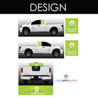 Vehicles make great mobile billboards. (DPP designed and printed these)