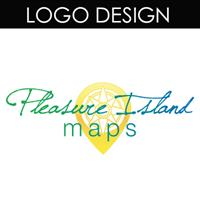This logo was designed for Pleasure Island Maps