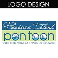 This logo was designed for Pleasure Island Pontoon