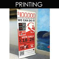 Retractable Banners get your message out in a portable way (DPP designed and printed these)