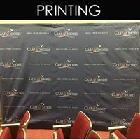 Step and Repeat backdrops are great for photo ops  (DPP designed and printed these)