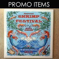 Over 100,00 Promotional Items (Here is a trivet for Shrimp Festival)