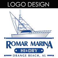 This logo was designed for Romar Marina