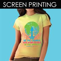 We offer screenprinting  (DPP designed and printed these)
