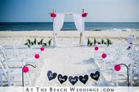 At The Beach Weddings Custom Bamboo with Pink